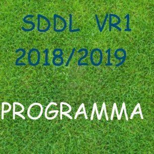 Wedstrijdschema SDDL VR1
