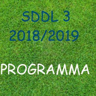 Wedstrijdschema SDDL 3