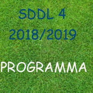 Wedstrijdschema SDDL 4