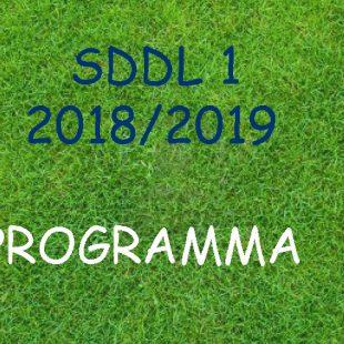 Wedstrijdschema SDDL 1