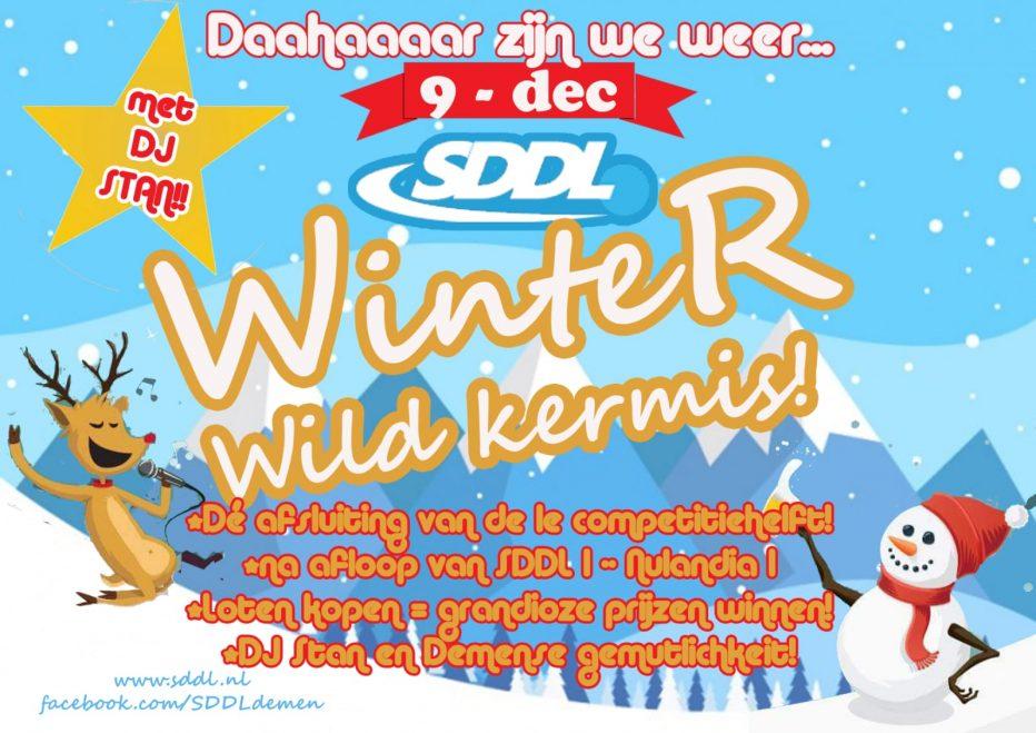 9 December weer wildkermis bij SDDL